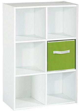 Rangement 6 cases Blanc Declikdeco
