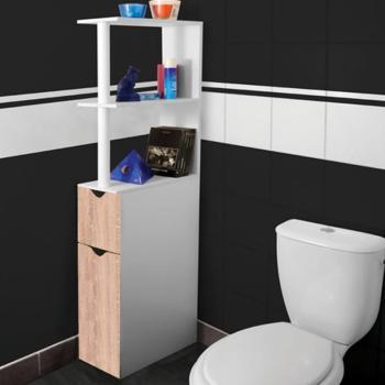 Meuble WC étagère bois gain
