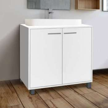 Meuble sous lavabo blanc pour