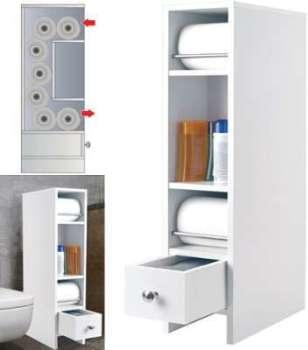 Meuble rangement wc distributeur