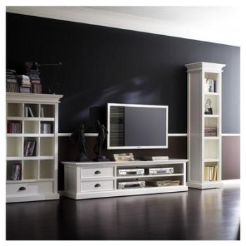 Meuble TV bois blanc LEIRJFORD
