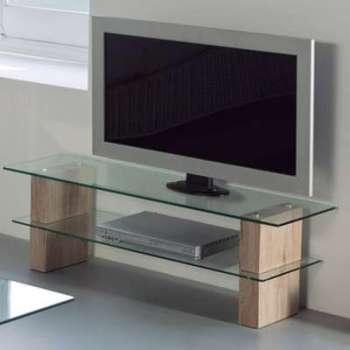Meuble tv moderne en verre