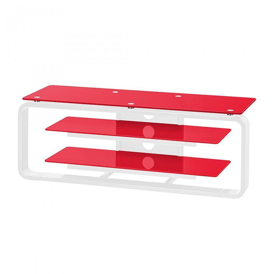 Recherche meuble verre du guide et comparateur d 39 achat for Meuble tv 110 cm blanc