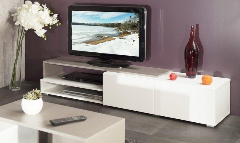 Recherche push pull du guide et comparateur d 39 achat for Grand meuble tv blanc laque