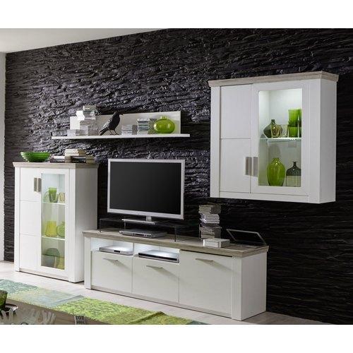 Catgorie meubles de tlvision du guide et comparateur d 39 achat for Meuble salon blanc et bois