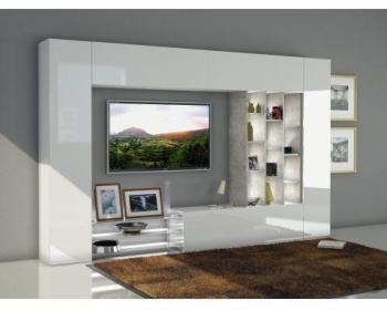 Ensemble meuble TV mural à