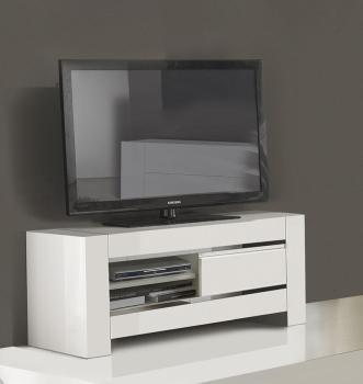 Recherche hifi du guide et comparateur d 39 achat for Petit meuble tv blanc laque