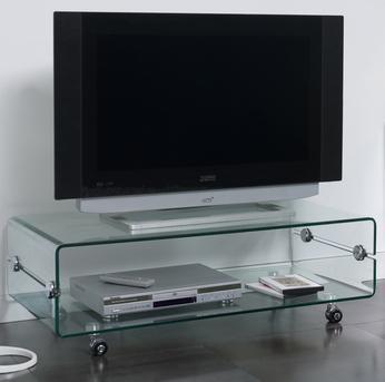 Meuble TV en verre transparent