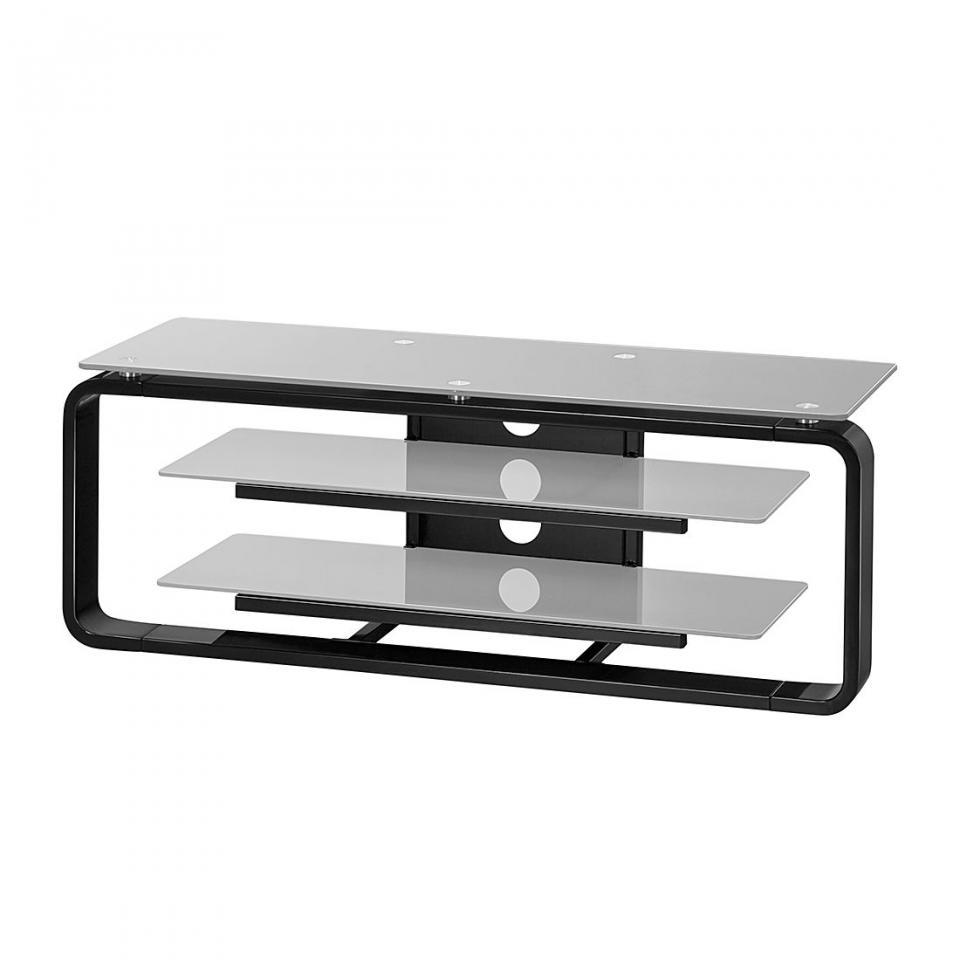 Recherche meuble verre du guide et comparateur d 39 achat for Meuble tv noir 110 cm