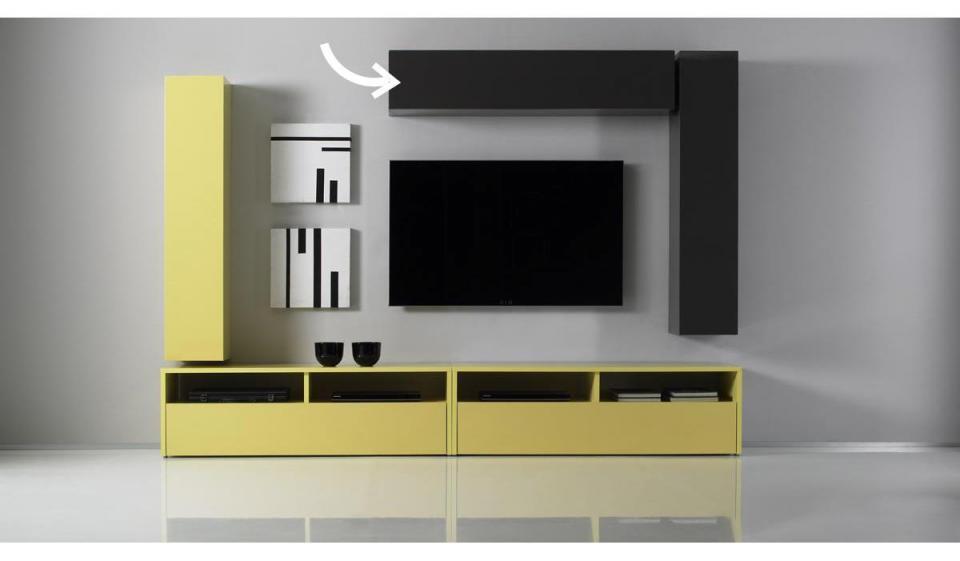 Elément mural TV COLORED horizontal