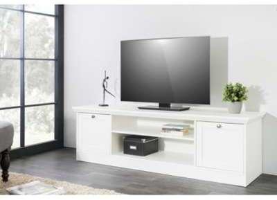 Meuble TV design blanc 2 portes