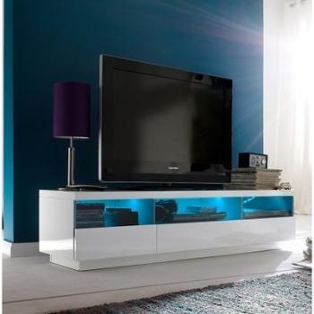 Meuble TV blanc laqué avec