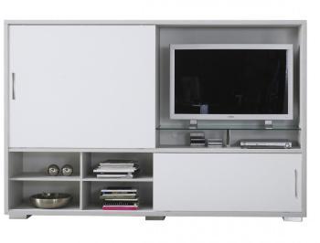 Meuble TV mur télé gris bois