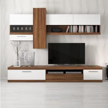 Ensemble meuble TV MIAMI blanc