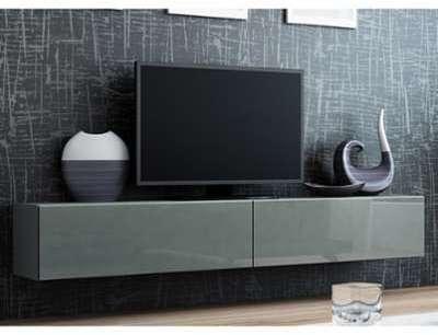 Meuble TV VIGO FULL 180 gris