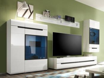 Mur tv-hifi 02 HERCULE blanc