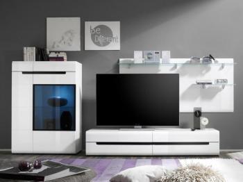 Mur tv-hifi 03 HERCULE blanc