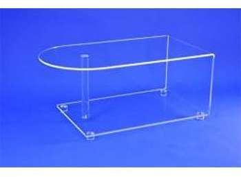 Table tv écran plat cristal