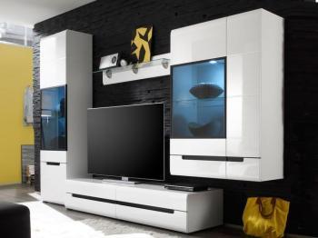 Mur tv-hifi 01 HERCULE blanc