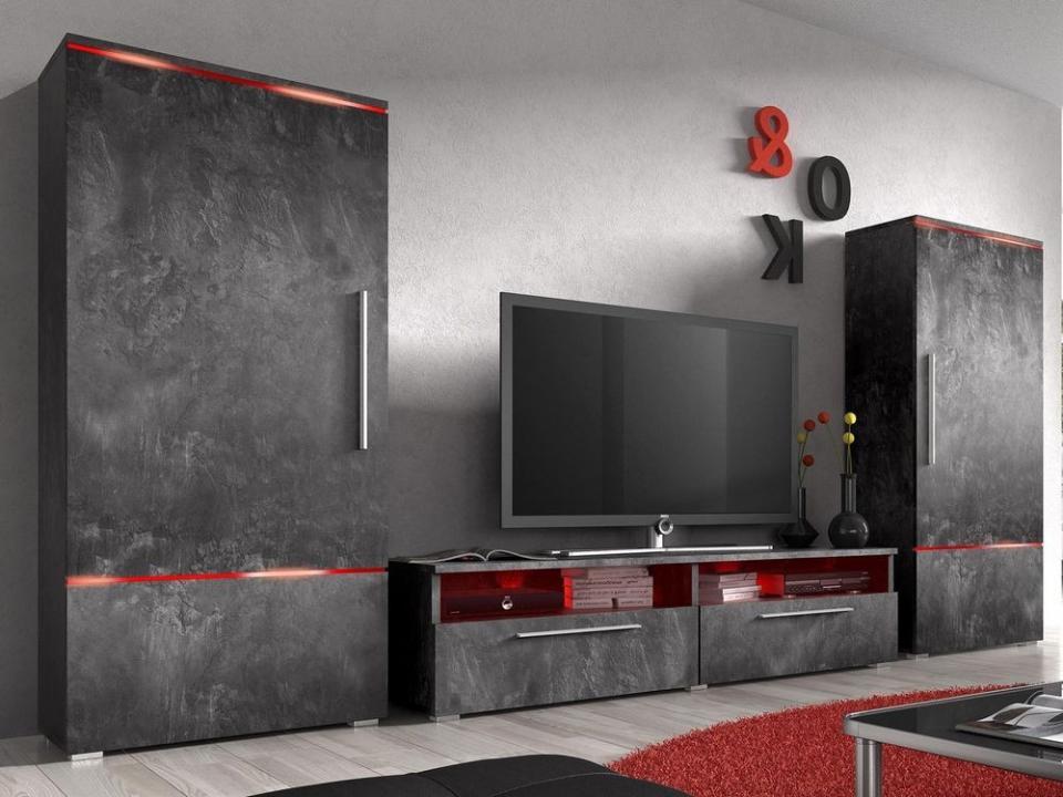 Mur tv-hifi AMITE 4 portes