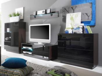 Mur tv-hifi TOGGLE wengué