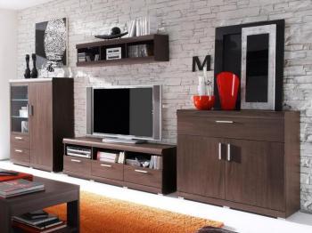 Mur tv-hifi MEDINA wengué