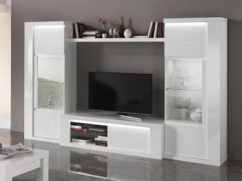 Mur tv-hifi VERONICA blanc