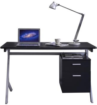Bureau informatique Noir Gris