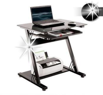 Bureau informatique en verre