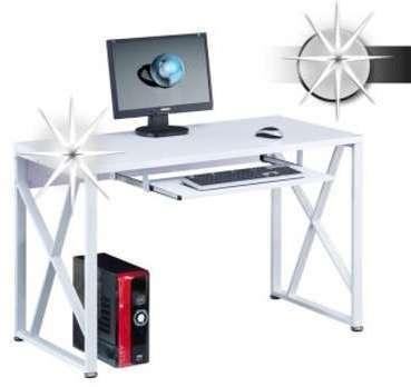 Bureau informatique - blanc