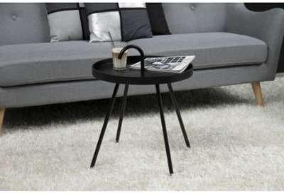 Table d appoint en métal noir