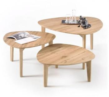Set de 3 tables gigognes en