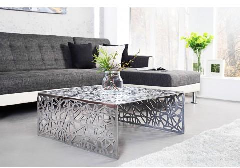Table basse design en aluminium