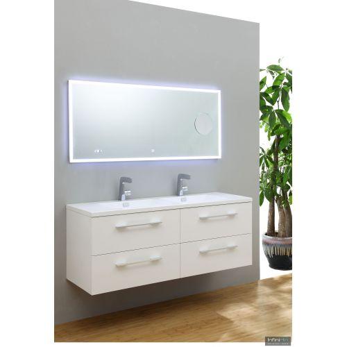Catgorie meubles salle de bain du guide et comparateur d 39 achat - Meuble double vasque blanc ...