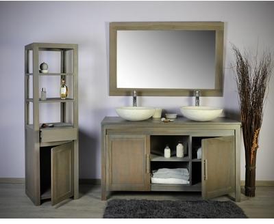 Ensemble salle bain teck complet