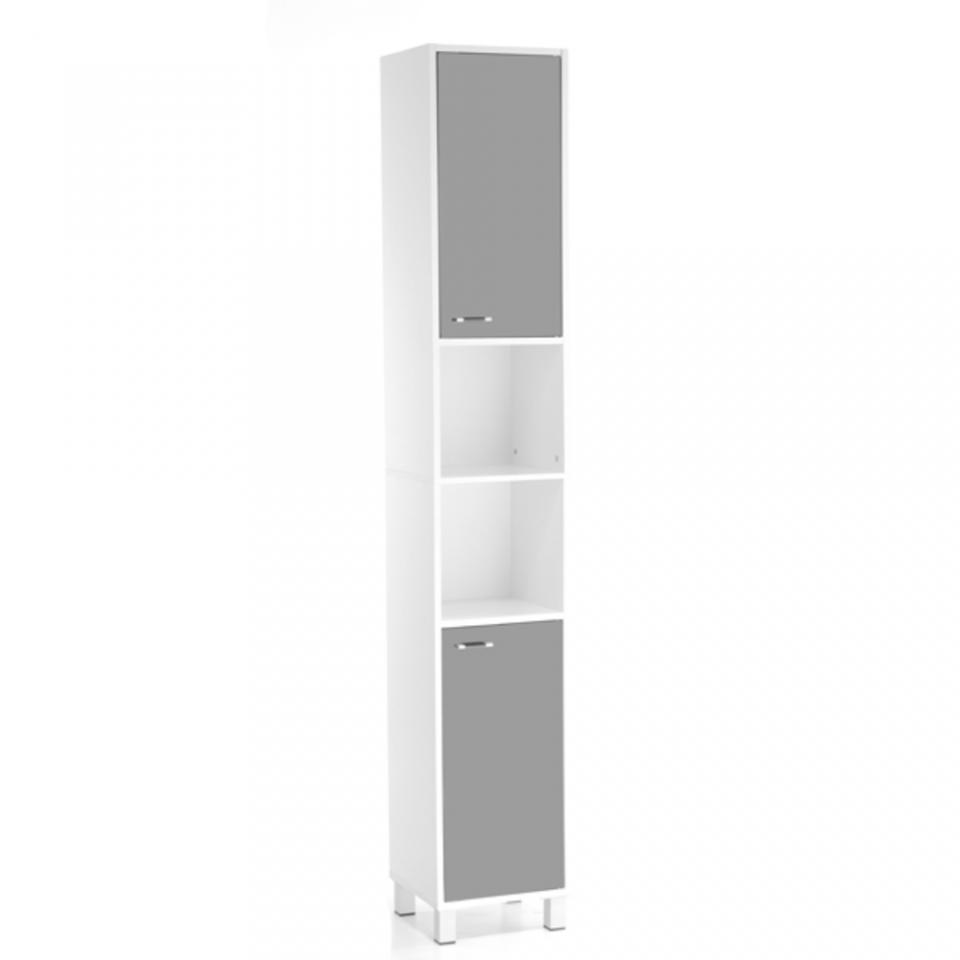 Colonne 2 portes swithome fanny blanc for Meuble colonne salle de bain 2 portes