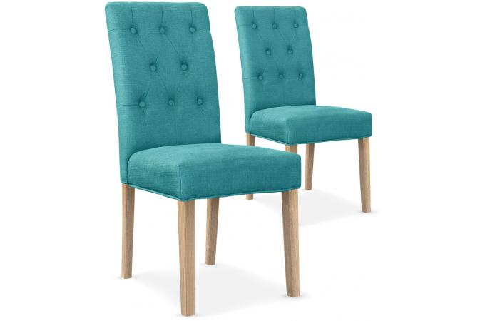 Kare fauteuil turquoise capitonne design for Chaise bleu turquoise