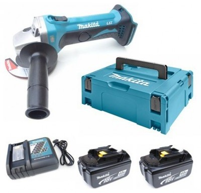 Makita dga452rmj meuleuse dangle batteries 18v li ion set 2x batterie 4 0ah dans makpac 115mm - Meuleuse a batterie ...