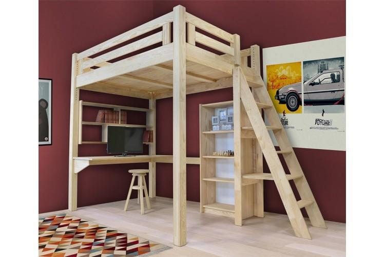 Catgorie mezzanines du guide et comparateur d 39 achat - Lit mezzanine bois ...