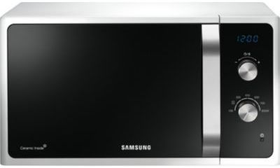 samsung four micro ondes 23l 1150w blanc ms23f301eaw ef. Black Bedroom Furniture Sets. Home Design Ideas