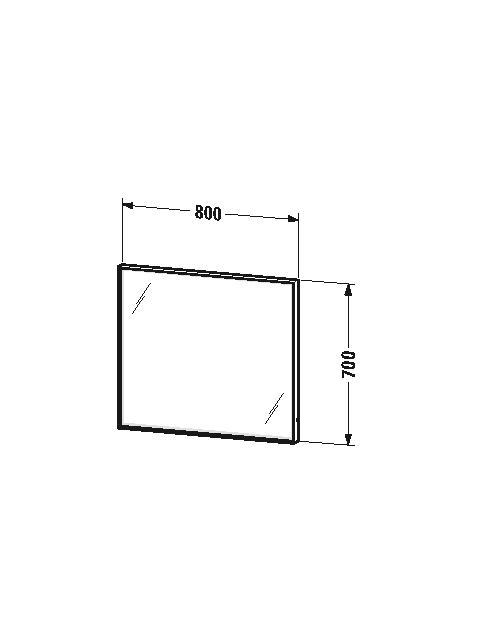 Duravit L-Cube - Miroir avec