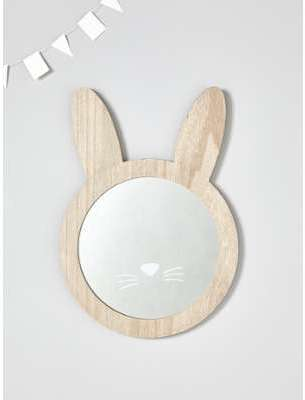 Miroir lapin en bois bois