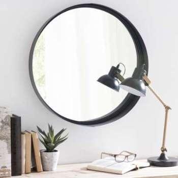 Miroir en métal noir D 60