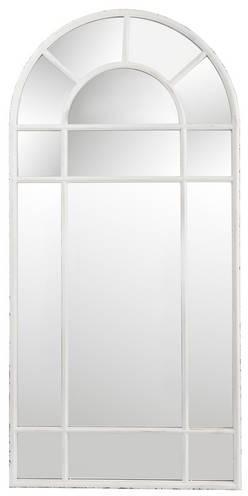 Miroir fenêtre métal blanc
