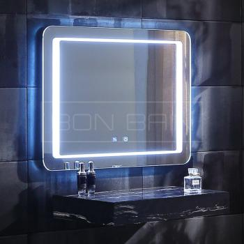Miroir rectangulaire LED design