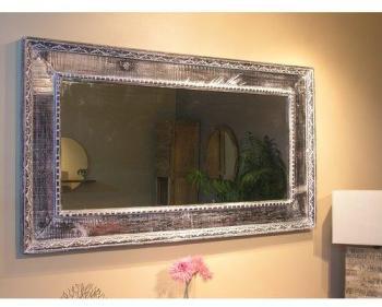 Miroir Palerme en bois patiné