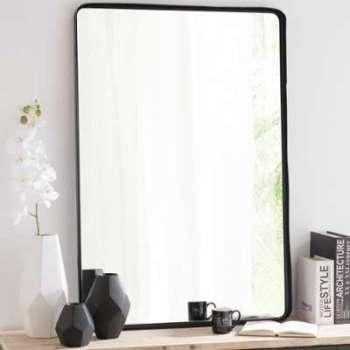 Miroir en métal noir H 110