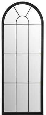 Miroir fenêtre en métal noir