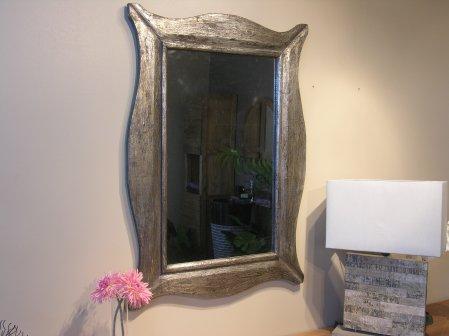 Miroir Moderne en bois patiné