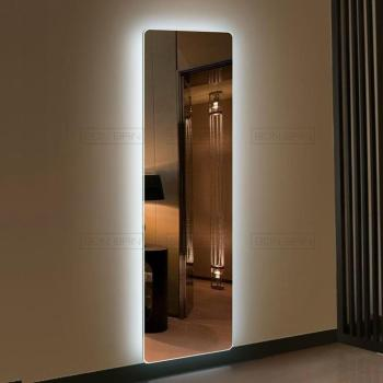 Grand miroir LED mural design